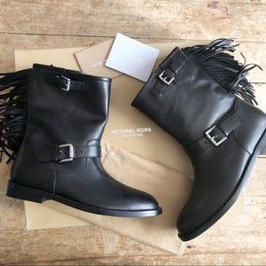 Michael Kors collection fringe booties